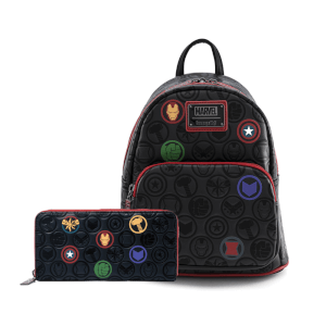 Loungefly Marvel Icons Aop Mini Backpack and Wallet Set