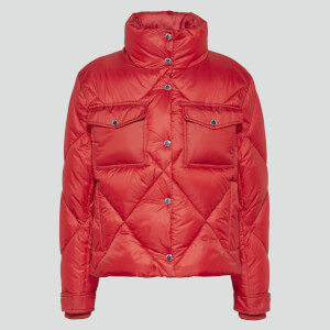 Tommy Jeans Women's Tjw Diamond Quilted Jacket - Wine Red