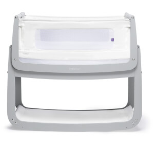SnüzPod4 Bedside Crib - Dove Grey