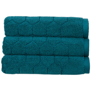 Christy Honeycomb Bath Towel - Set of 2 - Peacock