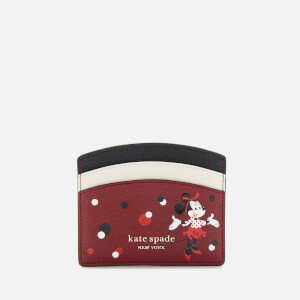 Kate Spade New York Women's Minnie Mouse Card Holder - Red Multi