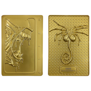 Alien 24k Gold Plated Xenomorph Limited Edition Ingot - Zavvi Exclusive