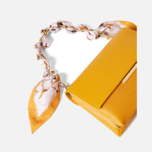 Ted Baker Women's Elsy Scarf Chain Bar Detail Cross Body Bag - Yellow