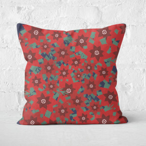 Christmas Floral Square Cushion