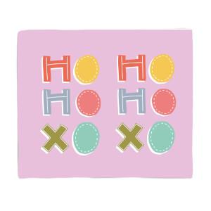 Ho Ho Xo Fleece Blanket