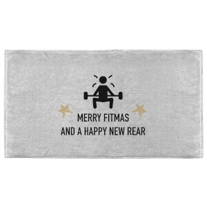 Merry Fitmas And A Happy New Rear Fitness Towel
