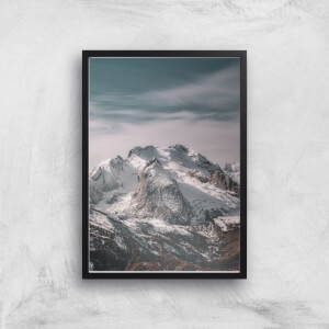 Snowy Mountain Giclee Art Print