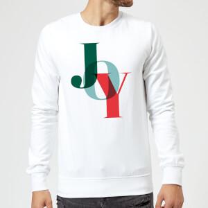 Graphical Joy Sweatshirt - White