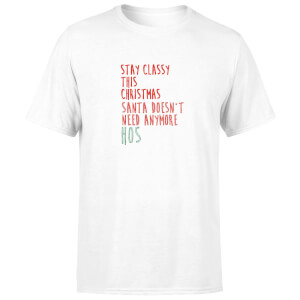 Stay Classy This Christmas Men's T-Shirt - White