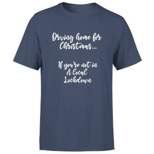 Driving Home For Christmas Men's T-Shirt - Navy