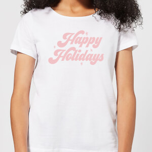 Happy Holidays Women's T-Shirt - White