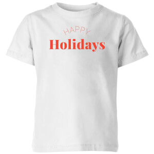 Happy Holidays Kids' T-Shirt - White