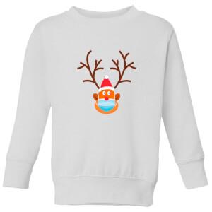 Covid Rudolph Kids' Sweatshirt - White