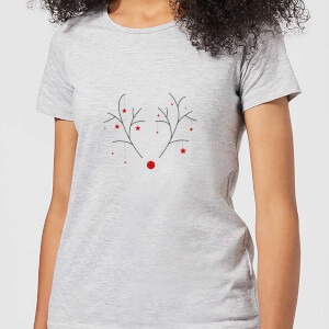 Graphical Rudolph Women's T-Shirt - Grey