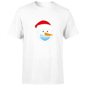 Covid Snowman Men's T-Shirt - White