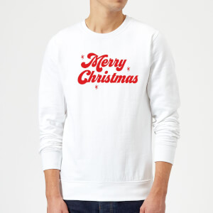 Merry Christmas Sweatshirt - White