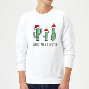 Christmas Fucktus Sweatshirt - White