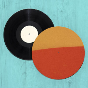 Burnt Orange Retro Slip Mat