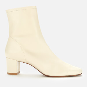 by FAR Women's Sofia Leather Heeled Ankle Boots - White
