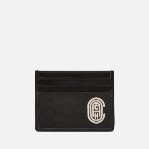 Coach Men's Card Case - Signature Jacquard with Coach Patch