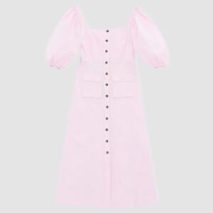 Ganni Women's Ripstop Cotton Chino Dress - Cherry Blossom