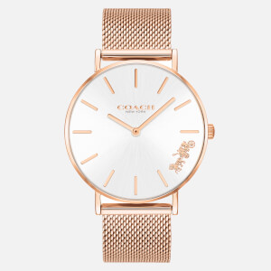 Coach Women's Perry Mesh Strap Watch - Rose Gold