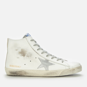 Golden Goose Deluxe Brand Women's Francy Leather Hi-Top Trainers - White/Silver/Milk