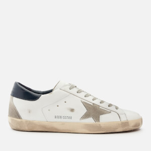 Golden Goose Deluxe Brand Men's Superstar Leather Trainers - White/Ice/Night Blue