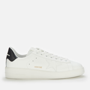 Golden Goose Deluxe Brand Men's Pure Star Leather Chunky Trainers - White/Black