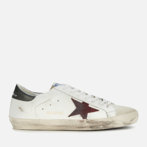 Golden Goose Deluxe Brand Men's Superstar Leather Trainers - White/Ice/Sienna