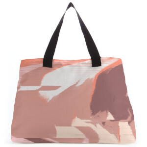 Pixel Brown Colours Large Tote Bag