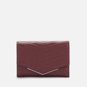 Ted Baker Women's Shaadi Patent Quilted Envelope Small Fold Purse - Deep Purple