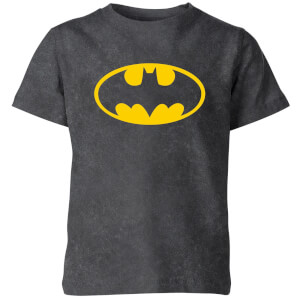 Batman Logo Kids' T-Shirt - Black Acid Wash