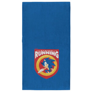 Sonic The Hedgehog Always Running - Fitness Towel