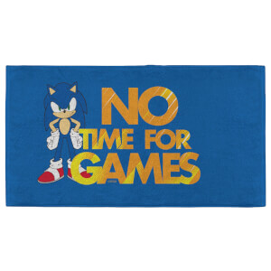 Sonic The Hedgehog No Time For Games - Fitness Towel