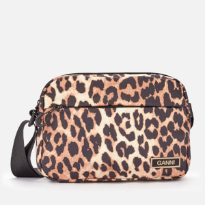 Ganni Women's Recycled Tech Cross Body Bag - Leopard