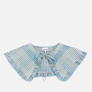 Ganni Women's Seersucker Check Collar - Heather