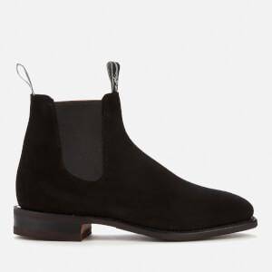 R.M. Williams Men's Comfort Craftsman Suede Chelsea Boots - Black