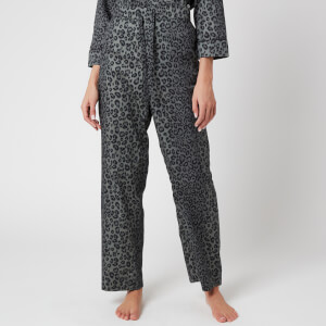 Les Girls Les Boys Women's Girls PJ Bottoms - Grey Leopard