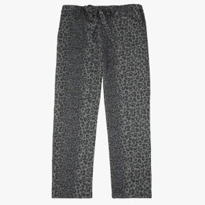 Les Girls Les Boys Women's Girls PJ Bottoms - Grey Leopard