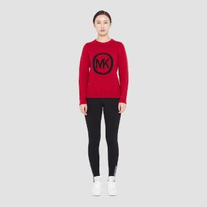 MICHAEL MICHAEL KORS Women's MK Metallic Sweater - Crimson