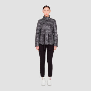 MICHAEL MICHAEL KORS Women's Belted Packable Puffer Coat - Black/White