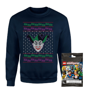 DC Sweatshirt & Lego Minifigure Bundle