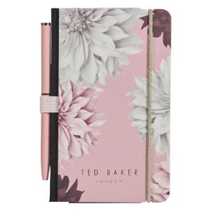Ted Baker Mini Notebook & Pen - Pink Clove