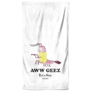 Rick and Morty Aww Geez Bath Towel
