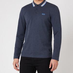 BOSS Athleisure Men's Plisy Longsleeve Polo Shirt - Navy