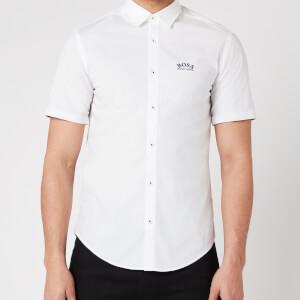BOSS Athleisure Men's Biadia_R Short Sleeve Shirt - White