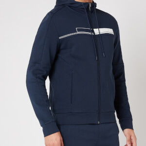 BOSS Athleisure Men's Saggy 1 Zip-Through Hoodie - Navy