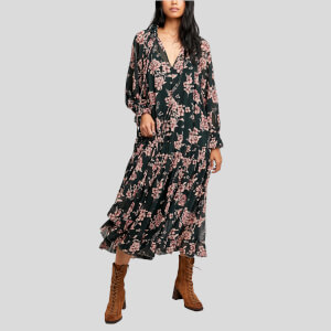 Free People Women's Feeling Groovy Maxi Dress - Forest Combo