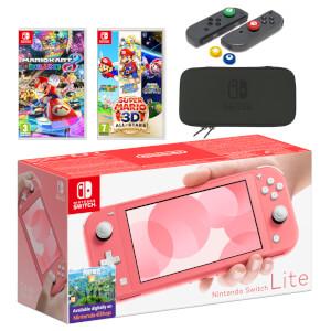 Nintendo Switch Lite (Coral) Mario Mega Pack